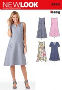 6340 New Look Pattern: Ladies' Loose Fitting Dress with Bodice and Sleeve Variations